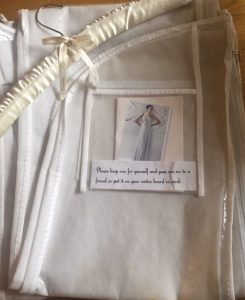 dress cover and padded hanger